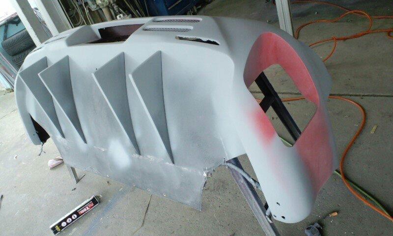 GTOデモカー E-Z16A リアバンパーの加工その1