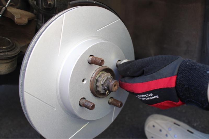 フロントブレーキローター交換&4輪パッド交換