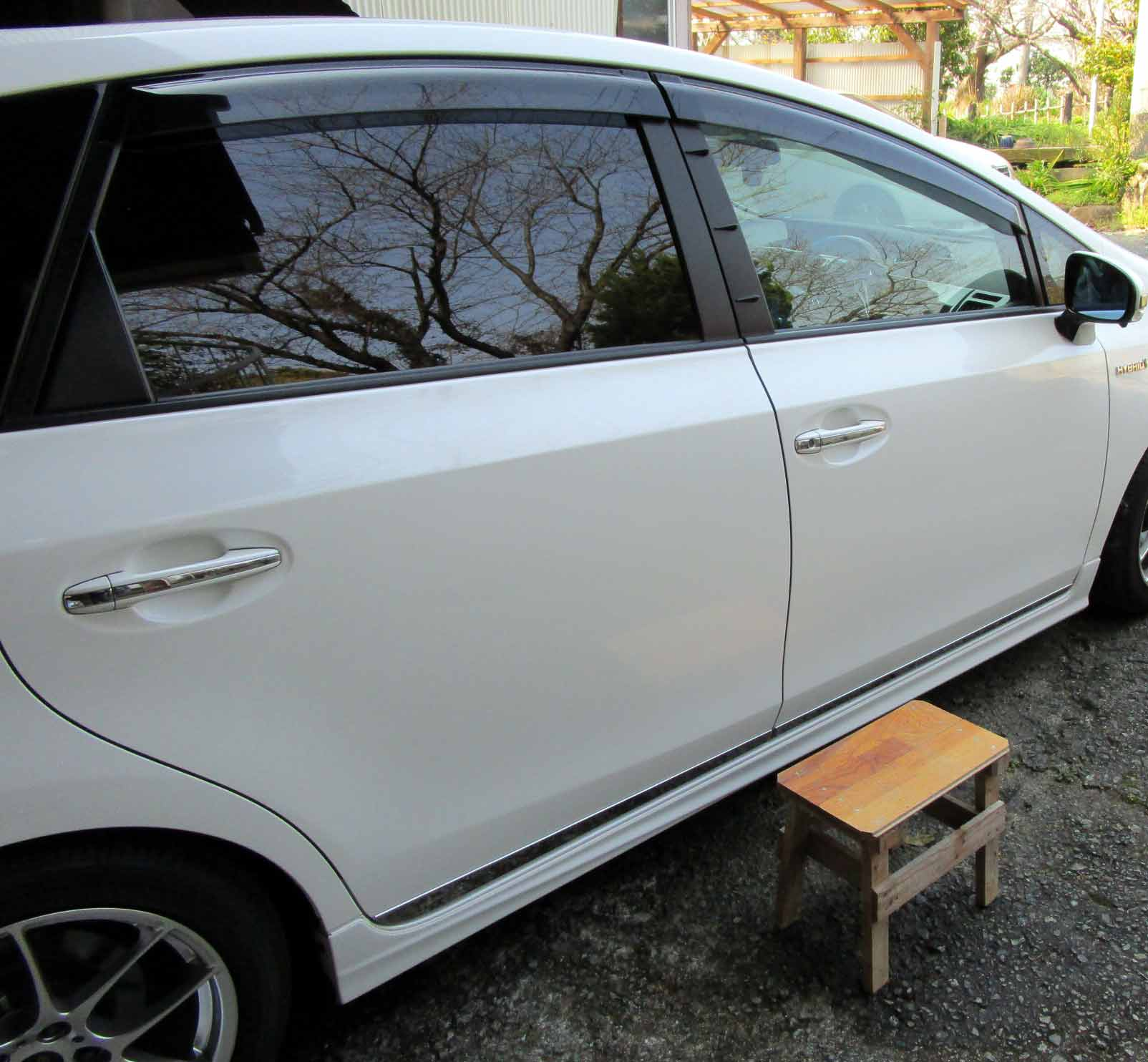 暖かい日の洗車 3月13日