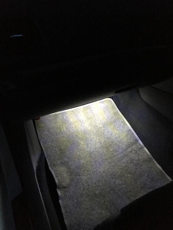 LEDフットランプ取付