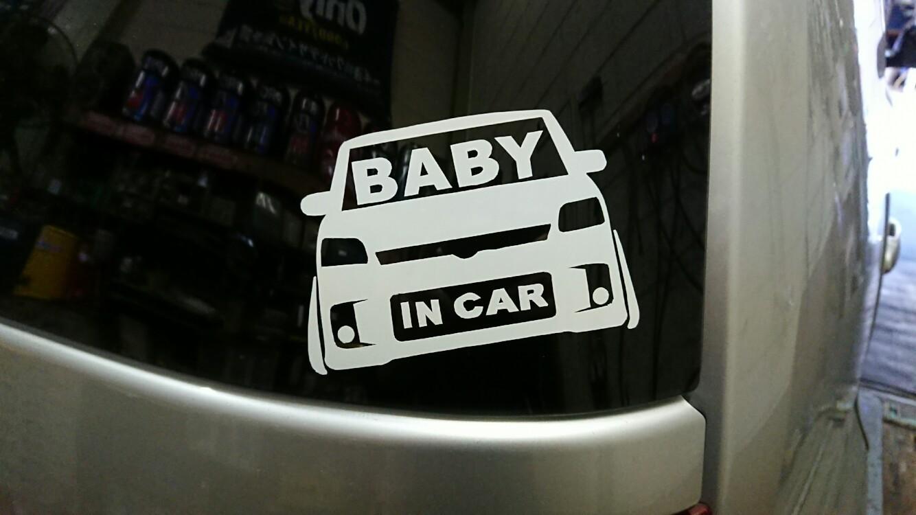 自作BABY IN CARステッカー