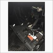 ドアミラー格納ユニットTYPE-E専用ハーネス付を取り付け。