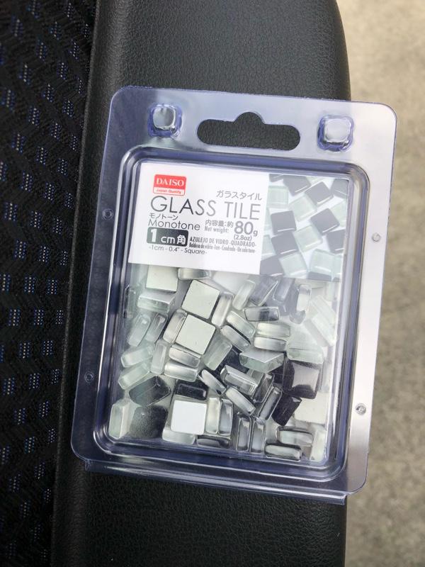 DAISOガラスタイル モノトーン