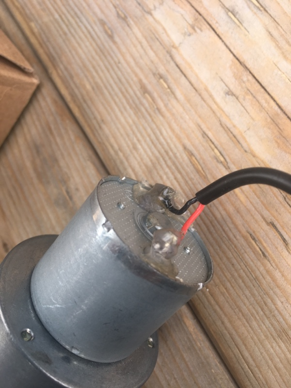 電動ecv取り付け 少し加工