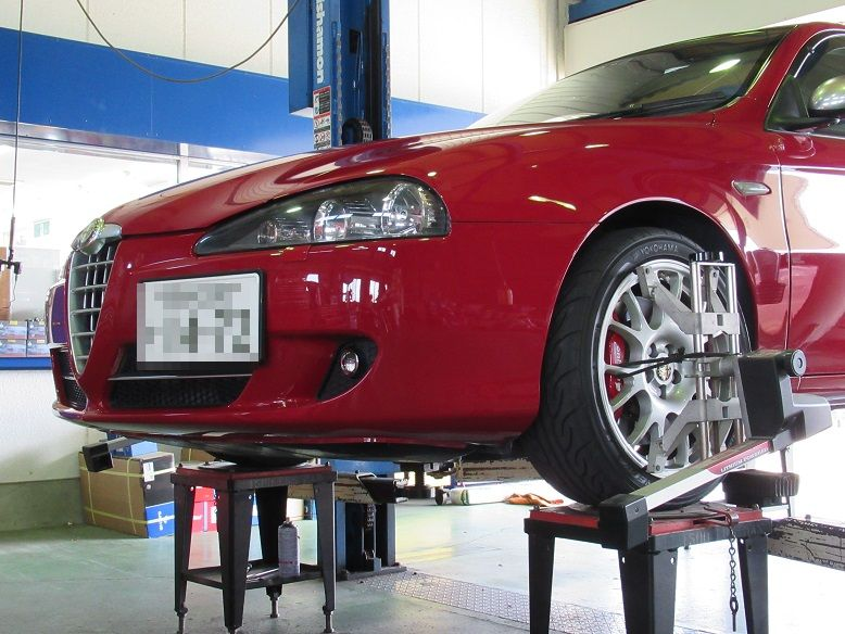 トータルアライメント調整...アルファロメオ147 タイヤ交換後が一番ですね。