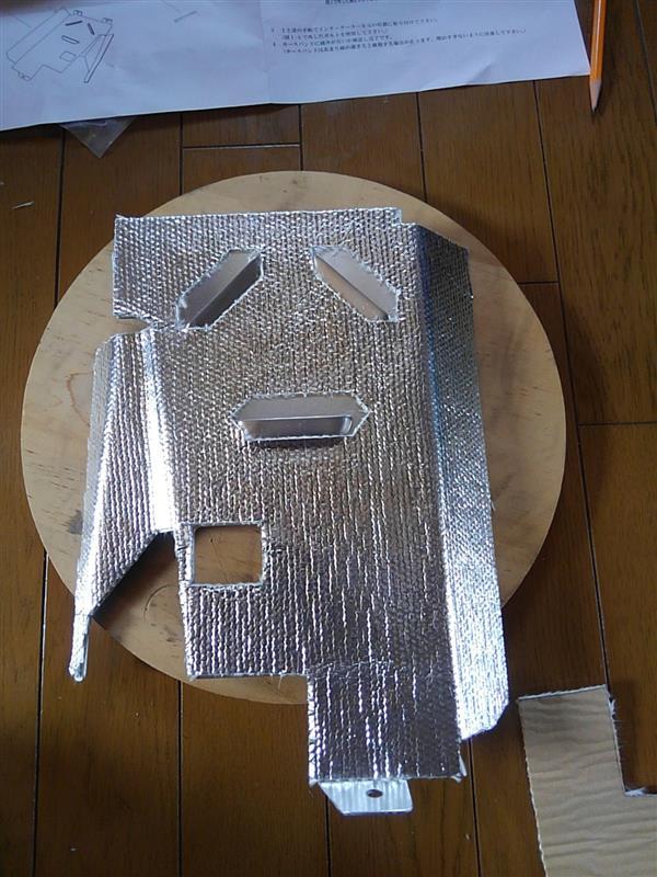 TANIGUCHI インタークーラーアンダープレートの組み付け