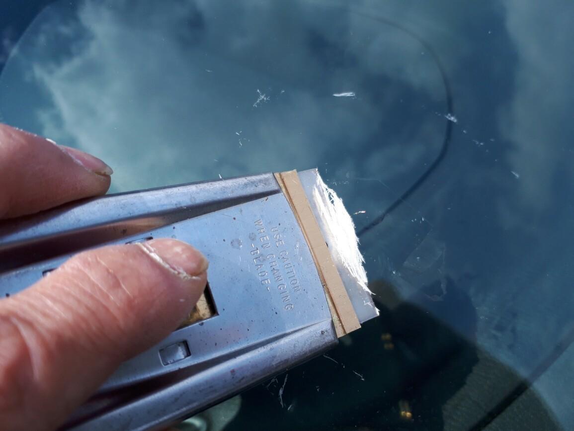 フロントガラス飛び石傷💥修理