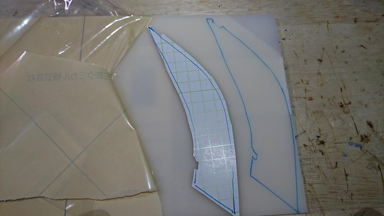 スターウォーズヘッドライト2号機製作 PART5 アクリル加工・接着