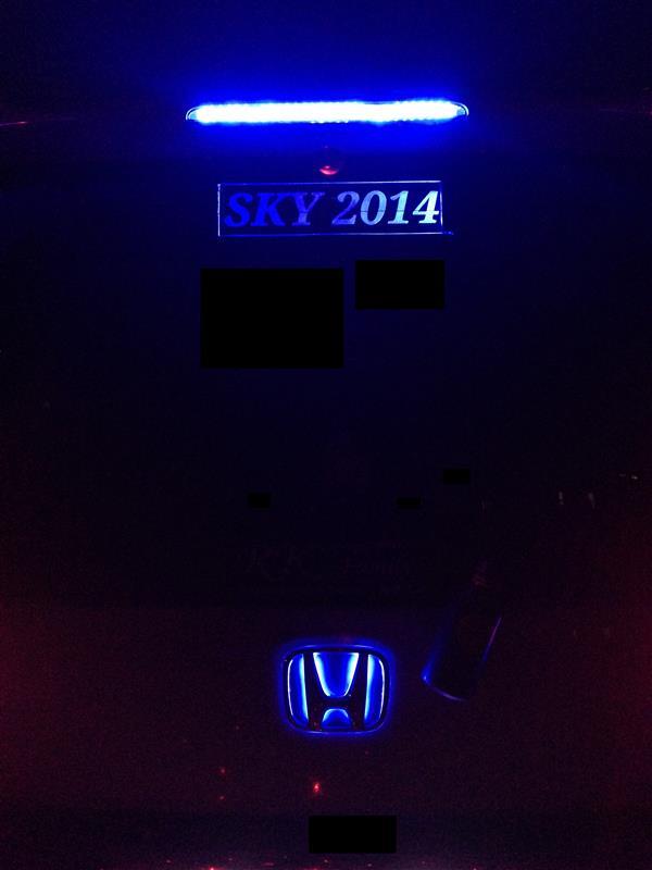 LEDアクリルプレート 色替え♪