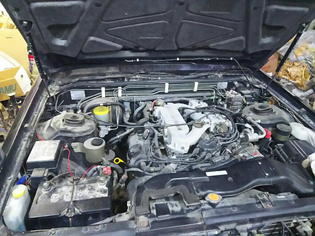 エンジンオイル交換。