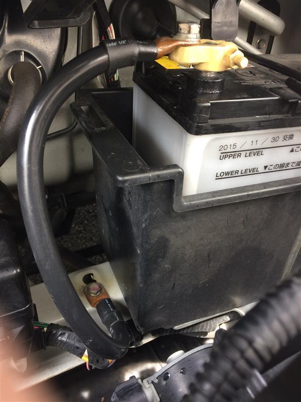 バッテリーのグランドアース線UPデート。