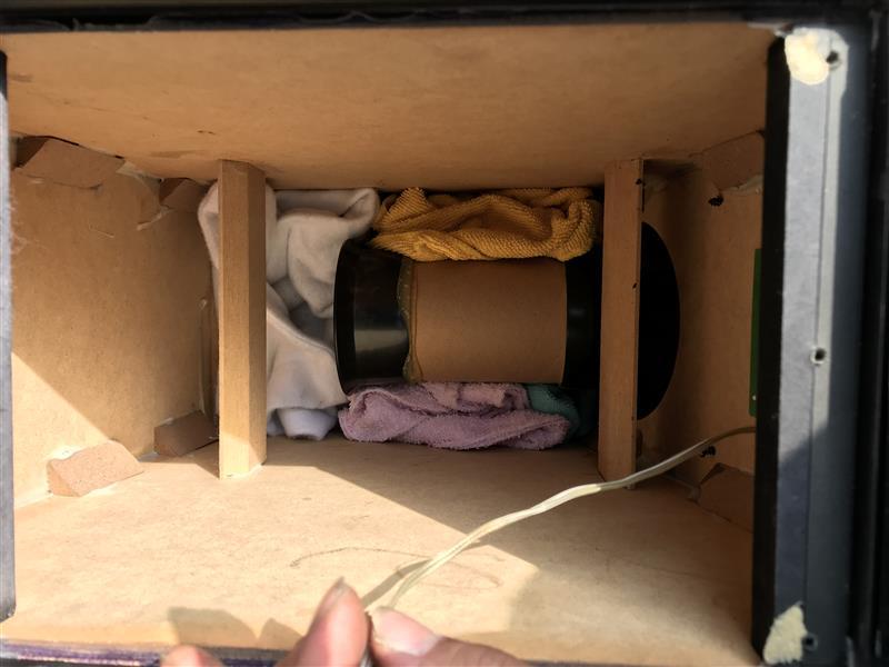 ジャンク品のアンプ内蔵ウーハーを外付けに変更