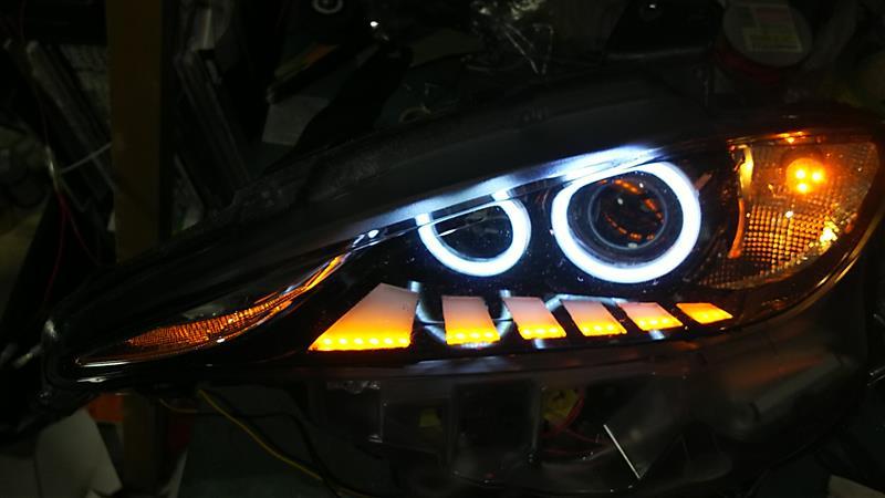 ND ロードスター ヘッドライト 流れるウィンカー 化