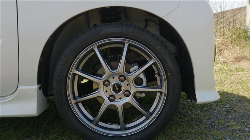 タイヤ+ホイール交換(´▽`)♬