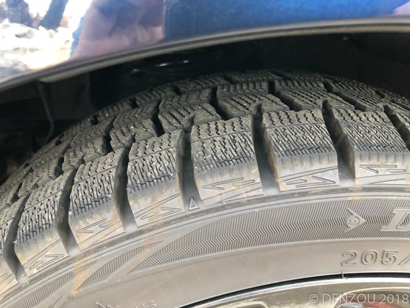 スタッドレスから純正タイヤへ交換