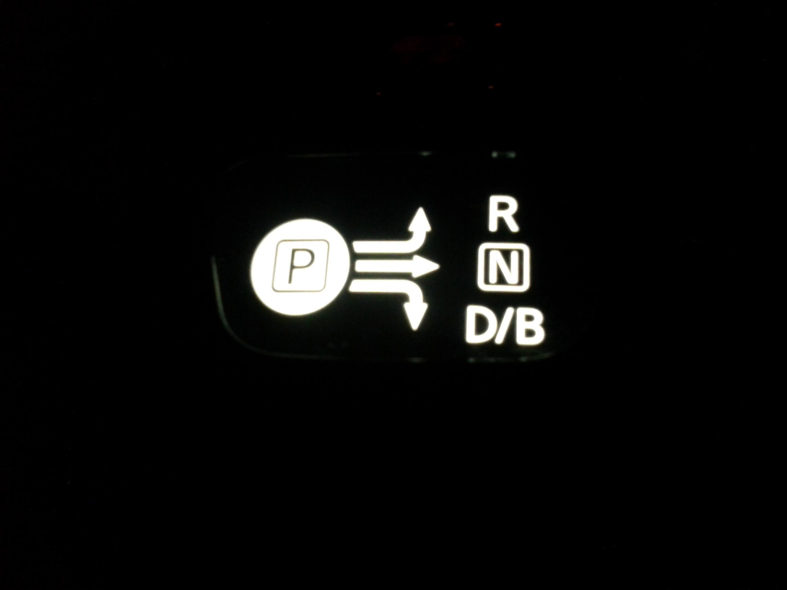 シフトレバーインジケータ LED入替