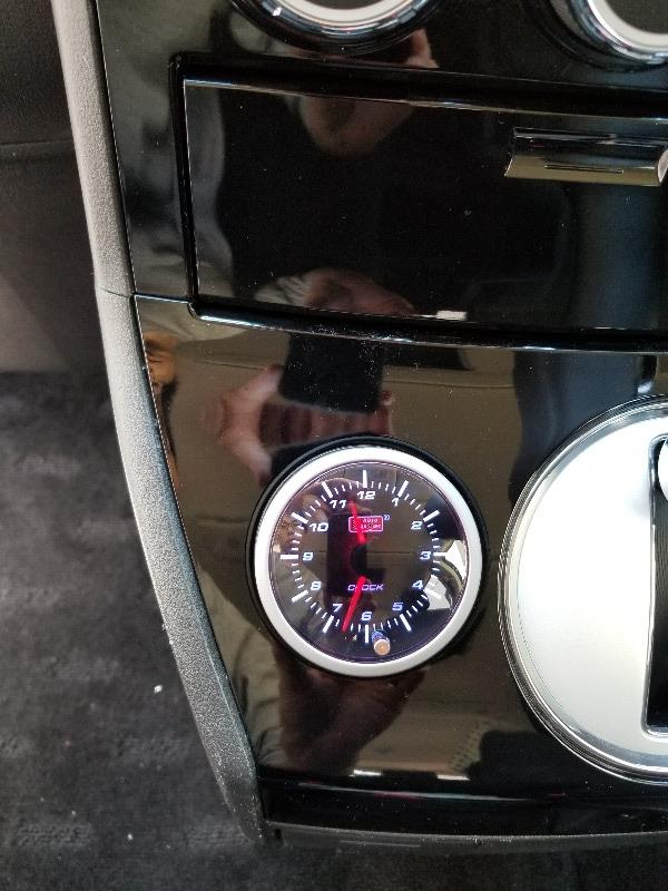 4WDセレクトスイッチ移設と時計を付けました