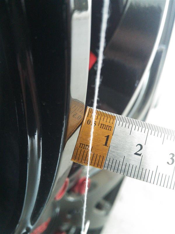 G25 フェンダークリアランス測定
