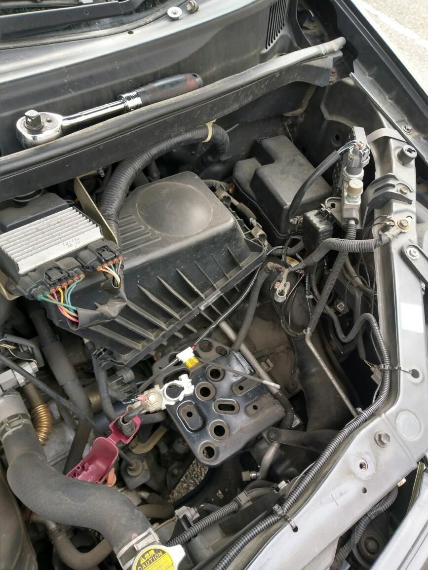B端子バッテリーをD端子バッテリーに交換作業②