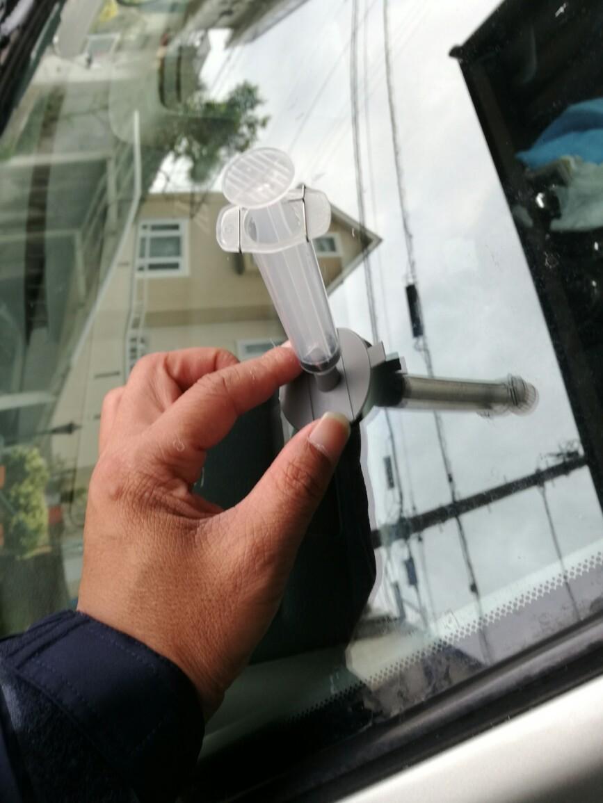 ガラスヒビ補修
