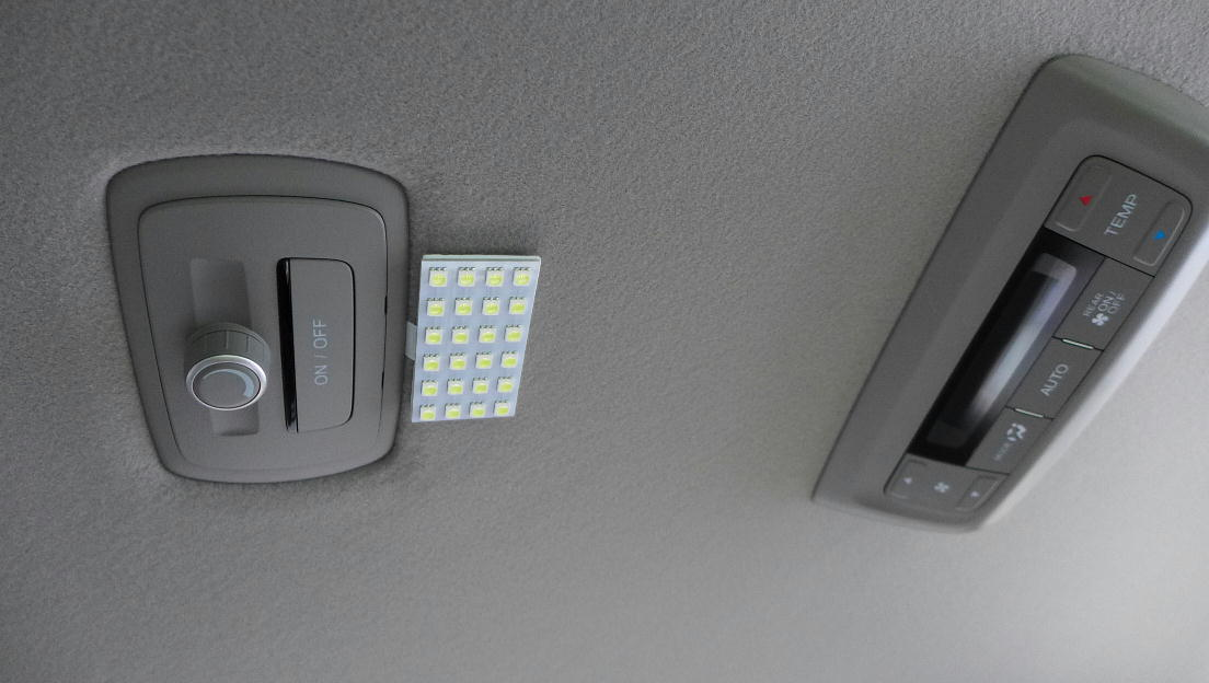 LED室内灯装備車にLEDランプ増設(5)