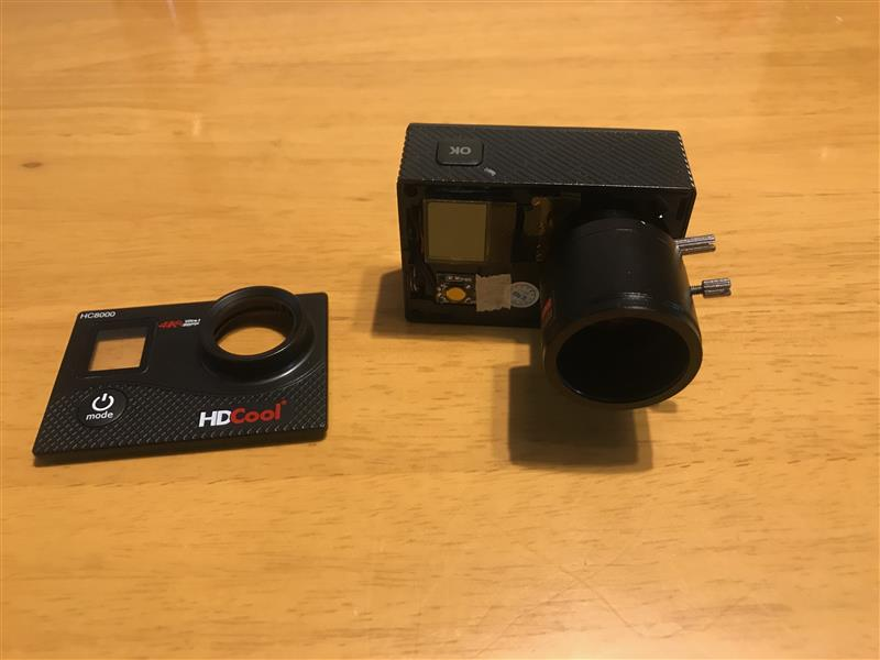 アクションカメラのレンズ交換2