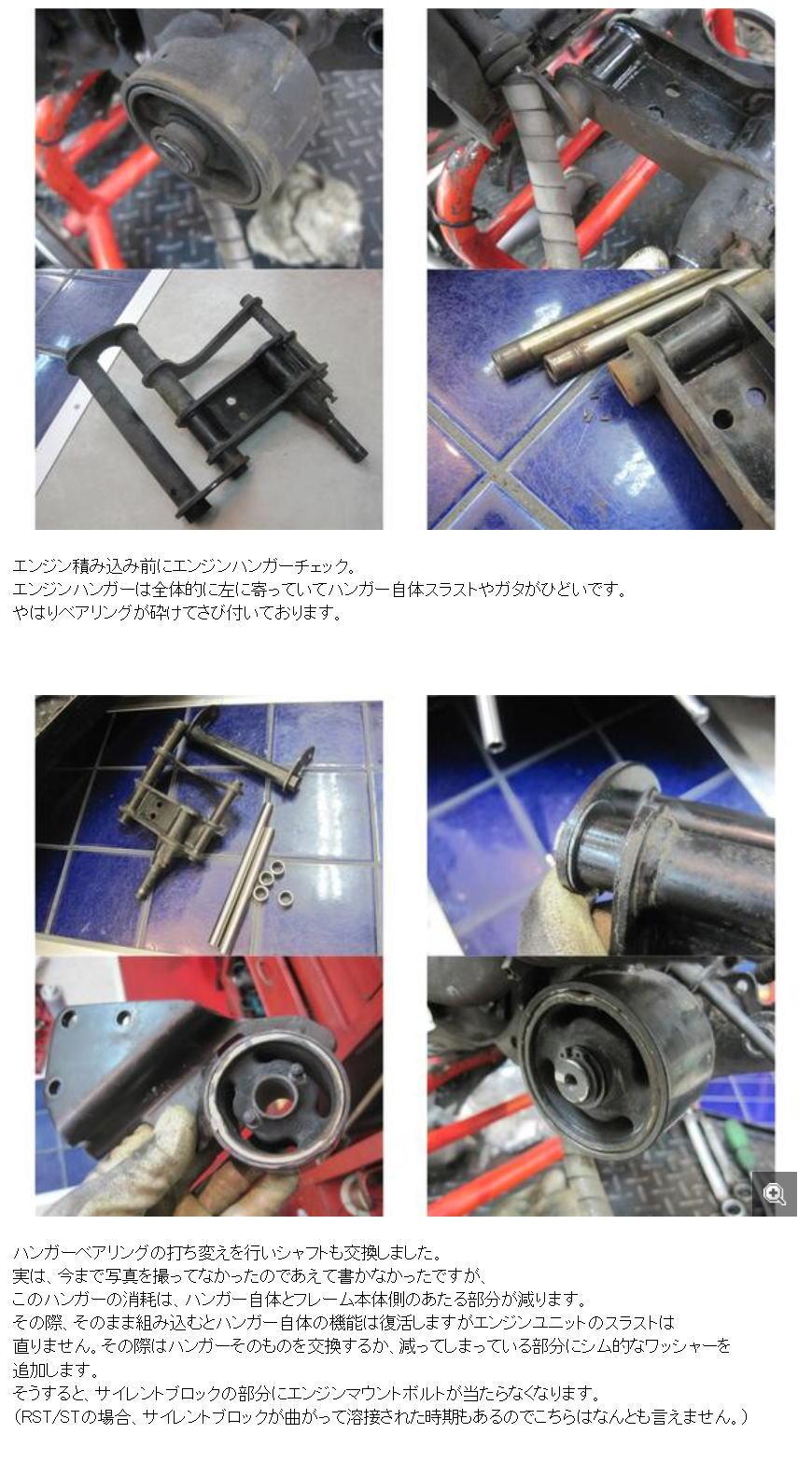 【考察】エンジンハンガーとエンジンマウントボルト干渉 GILERA RUNNNER VX125RST