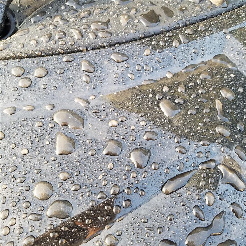 朝からちゃちゃっと洗車