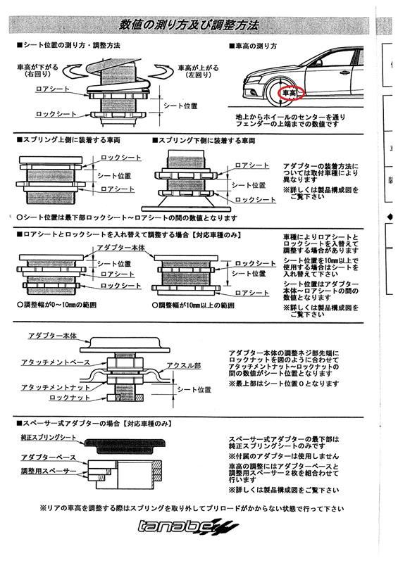 tanabe サステックプロCR(ネジ式) 車高調整