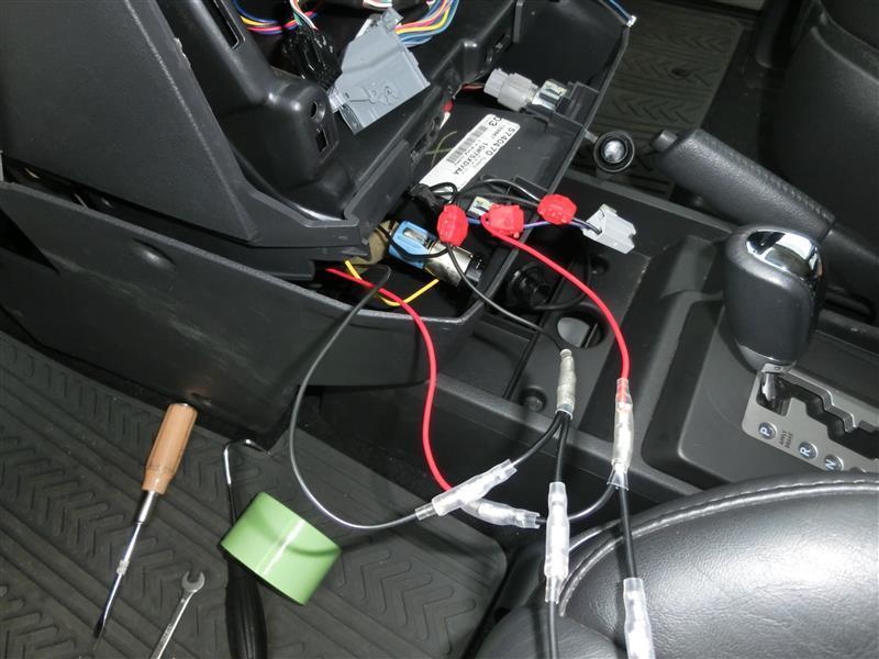 ドライブレコーダー取り付け準備