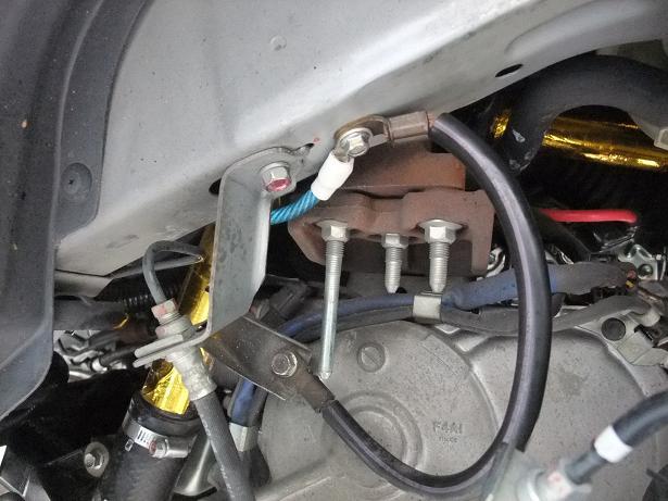アンダーパネルの補修とアーシング