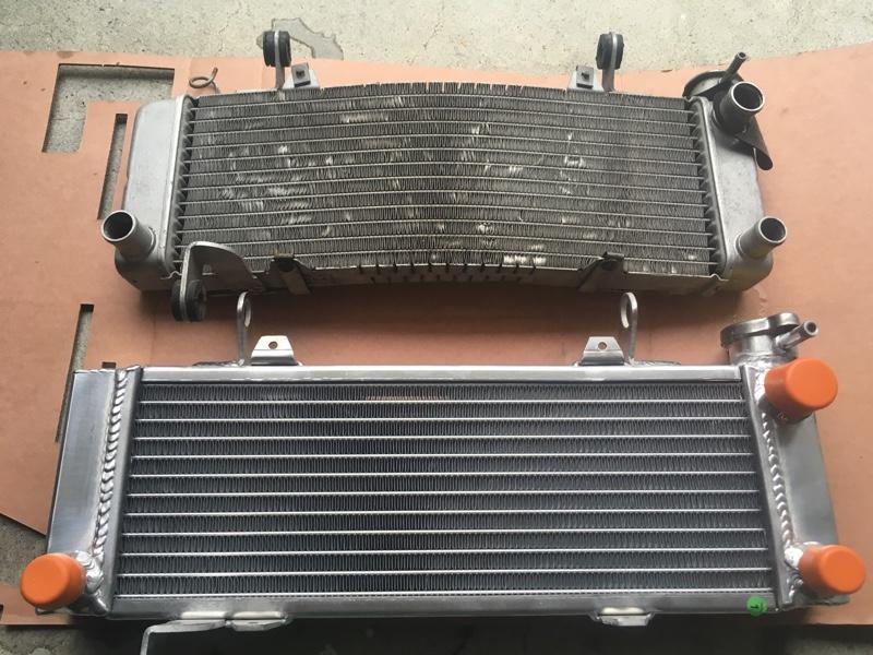 冷却効率アップ!GPI大型ラジエター、ファンスイッチ82℃作動、65℃サーモスタット変更