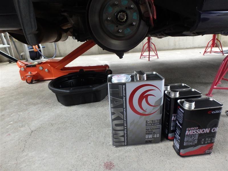 エンジンオイル、オイルフィルター交換