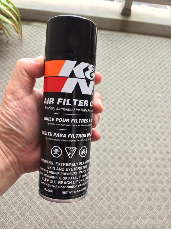備忘録 K&Nエアフィルター清掃