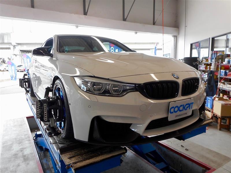 BMW M4のアライメント調整