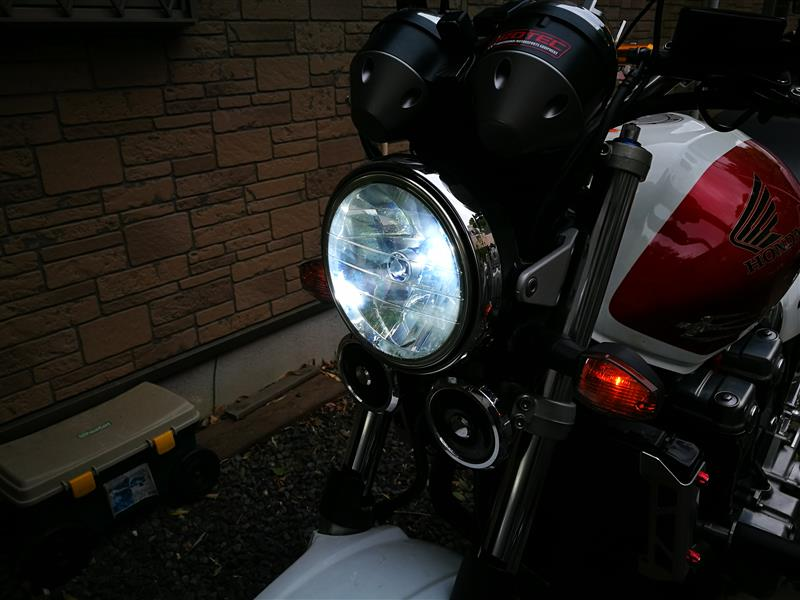 CB1300SF ヘッドライトLED交換 SC54