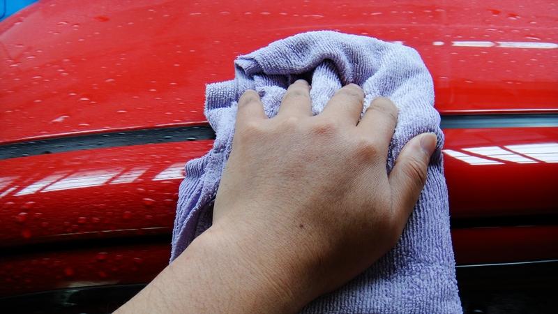 雨降時のエコ洗車