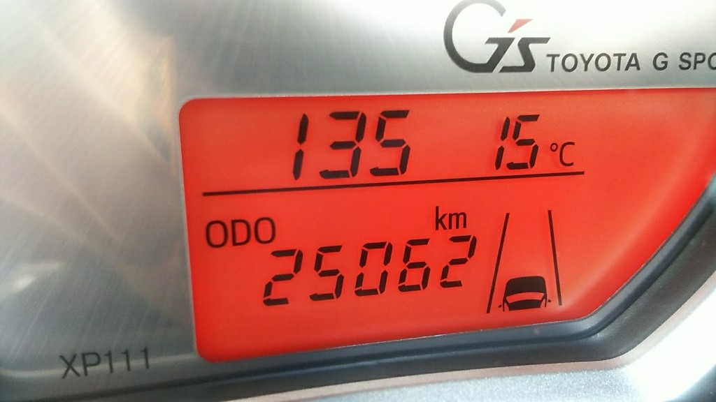 25062km 車内掃除機清掃