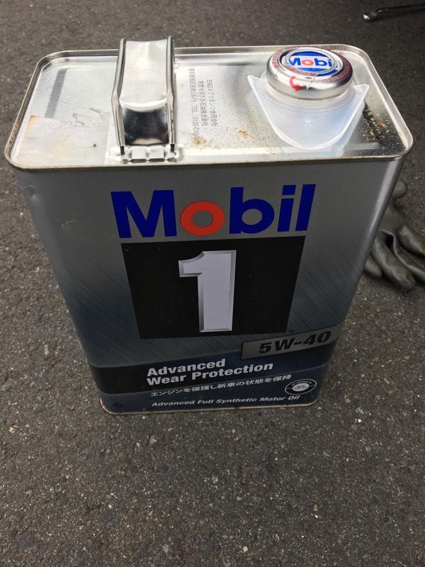 モービル1 5w-40 107,093キロ 交換