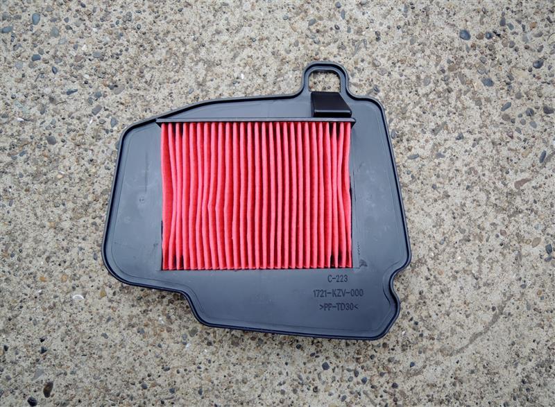スーパーカブ110プロ エアーフィルター交換