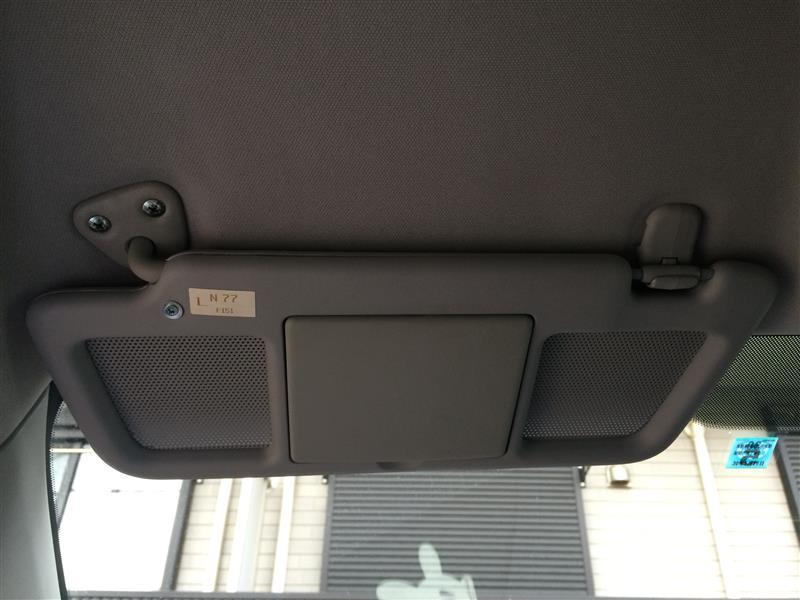 助手席側サンバイザー補修