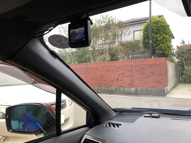 ドライブレコーダーの仮取り付け( *`ω´)