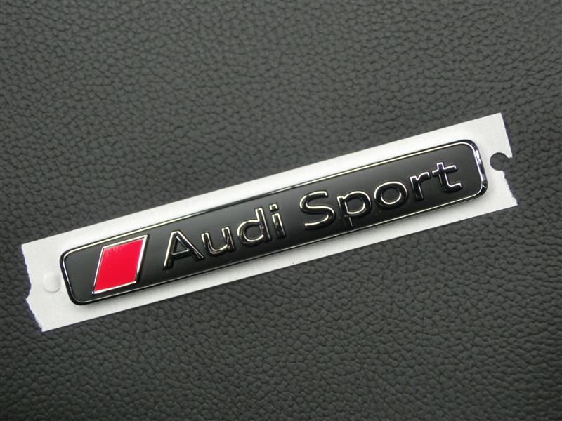 Audi Sport エンブレム取り付け