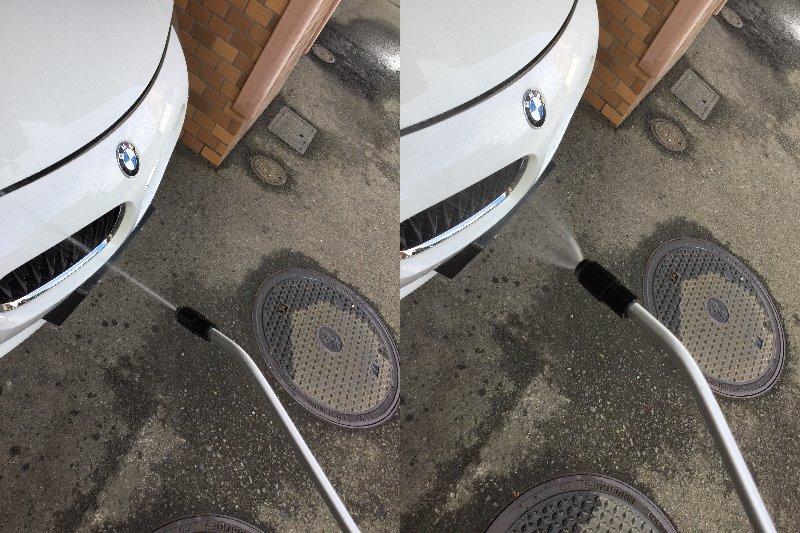 走った後のかんたんな洗車方法