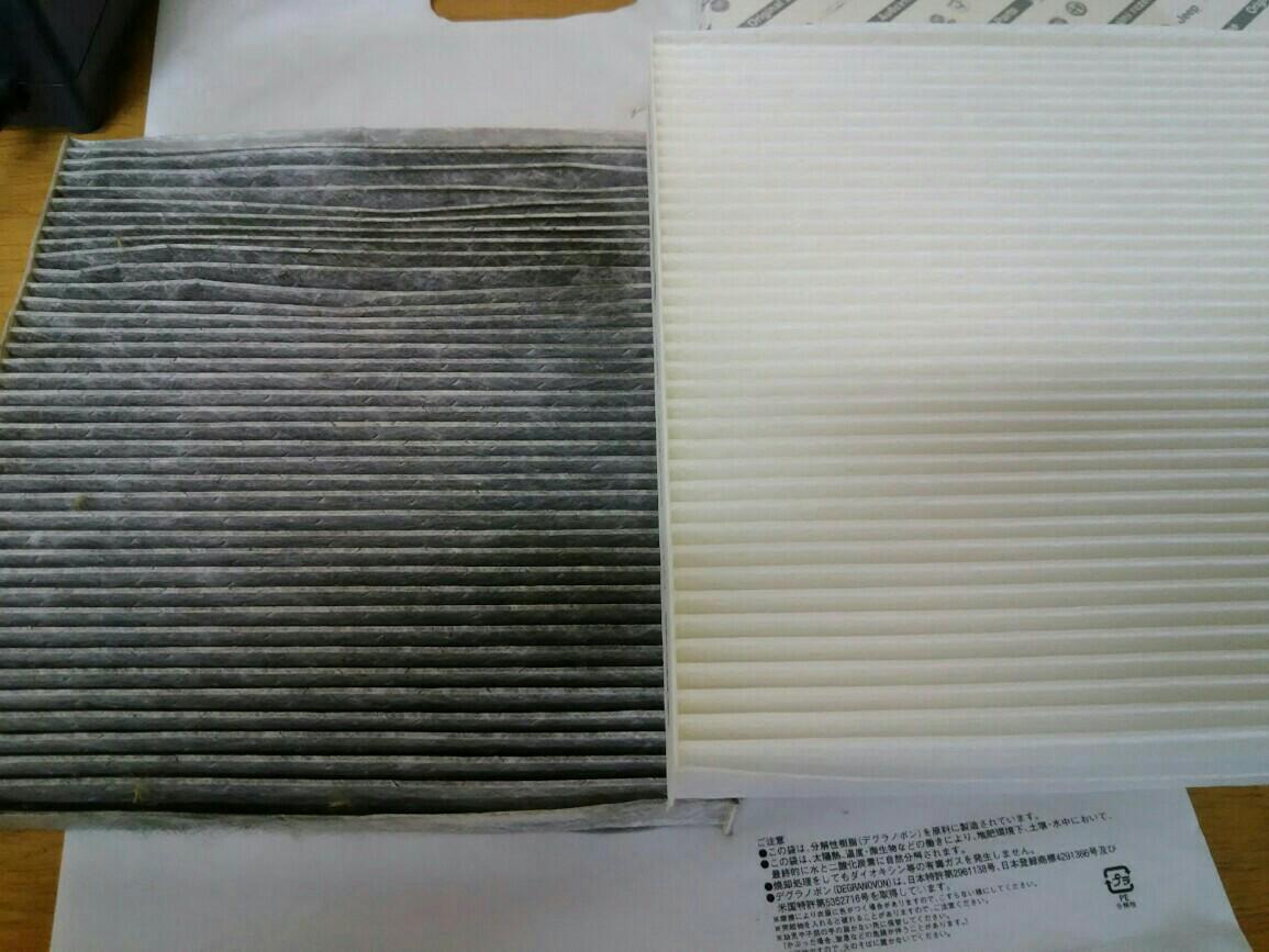 エアコン ポーレンフィルター交換