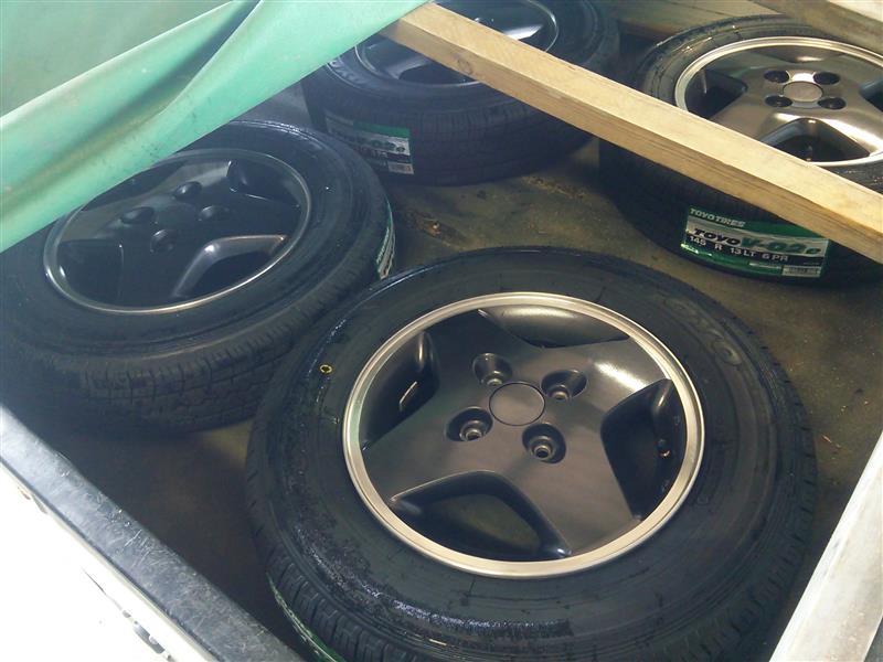 【DA17Vエブリィ:実弟の車】タイヤ組み TOYO Tires V-02e