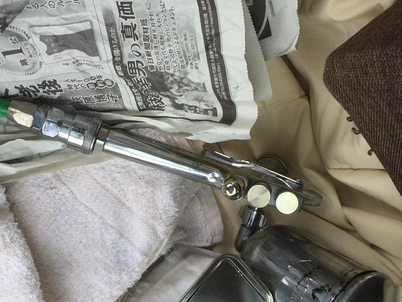 12Vコンプでアルミ塗装
