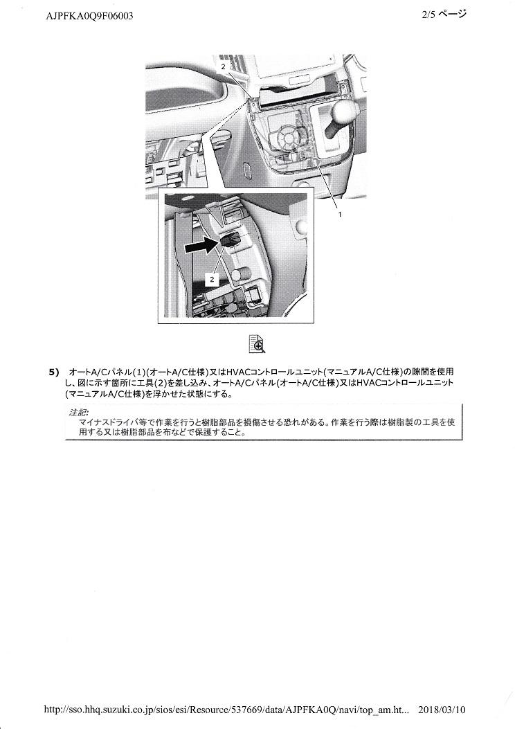 カーナビ取付け ① 資料編