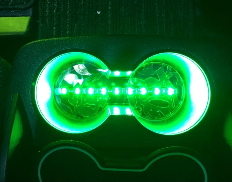センターコンソールカップホルダーLED照明