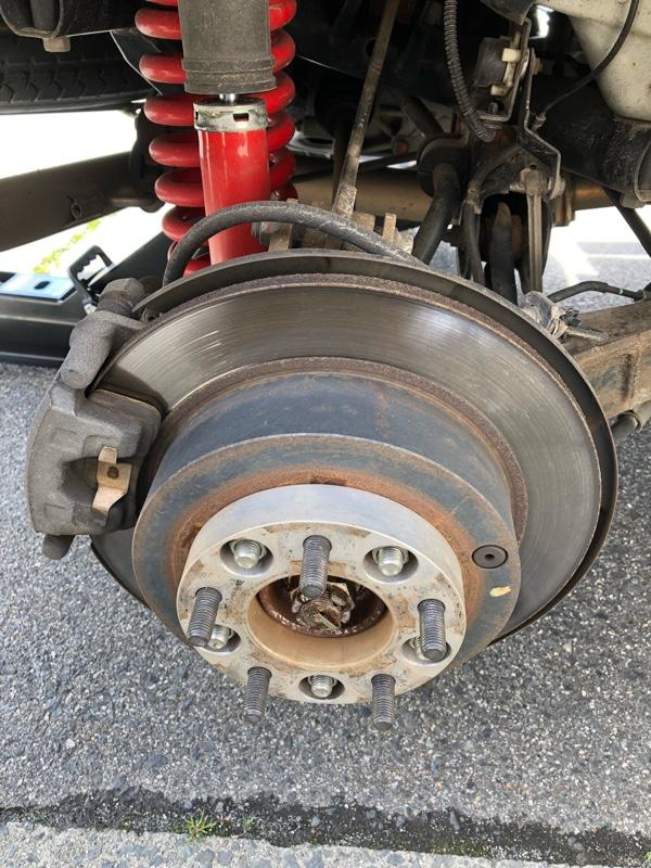 ワイトレ装着テストと、タイヤ交換。